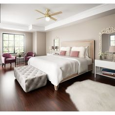 Are you planning to invest in bedroom ceiling fans? Living Room Ceiling Fan, Bedroom Ceiling, Bedroom Carpet, Simple Bedroom Decor, Home Decor Bedroom, Blue Bedroom, Hotels In Bangkok, Best Ceiling Fans, Master Bedroom Design