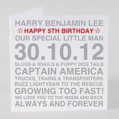 Personalised Birthday Boy Card