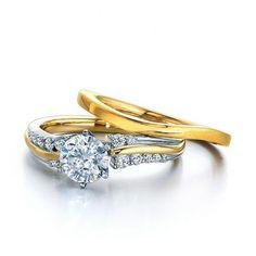 Diamond + Gold Bridal Set