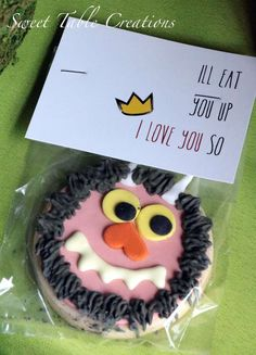 Where the Wild Things Are birthday party cookie favors! See more party ideas at CatchMyParty.com!