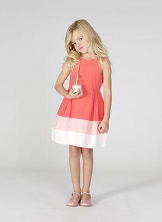 girls colourblock dress