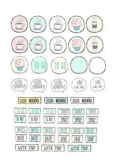 Paper and Needle: Free Printable Stickers for planner