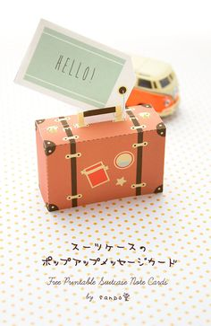 is too adorable for words. You could put some little sweets in it and have it so it opens and shuts. Diy Paper, Paper Crafts, Cute Suitcases, Envelopes, Paper Purse, Suitcase Packing, Message Card, Travel Themes, Paper Toys