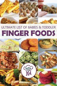 Ultimate List of Baby and Toddler Finger Foods Baby Lead Weaning and Finger Foods for Babies and Toddlers. Check out our…