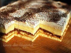 Fajné rezy Hungarian Recipes, Russian Recipes, Czech Recipes, Ethnic Recipes, Czech Desserts, Wonderful Recipe, Dessert Bars, Baked Goods, Baking Recipes