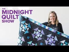 """Churn Dash Variation """"Star Power"""" Quilt   Midnight Quilt Show SEASON 4 FINALE Angela Walters - YouTube"""