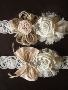 One of favorite garters!! Hey, I found this really awesome Etsy listing at https://www.etsy.com/listing/160530298/wedding-garter-set-ivory-burlap-garter
