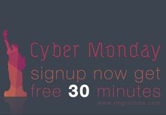 Enjoy Cyber Monday with RingtoIndia sign Up Offer.