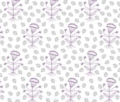 Jaipur in lilac/gray fabric by domesticate on Spoonflower - custom fabric