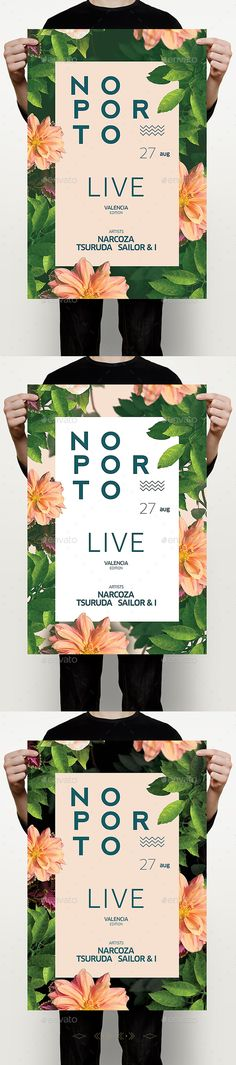 Summer Porto Flyer — Photoshop PSD #fashion #flowers • Available here → https://graphicriver.net/item/summer-porto-flyer/16636770?ref=pxcr