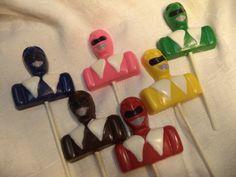 12 Power Ranger  Mega Force Chocolate Lollipops Party Favors