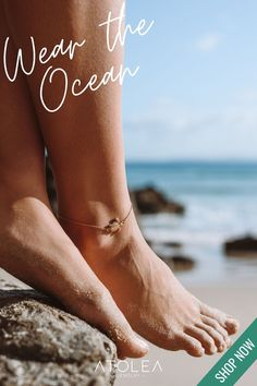 Keep the Ocean vibes all year long with our Turtle Anklet Bracelet. This Sea turtle anklet will take your typical beach style to a gnarly new level! Find this octopus earrings and more ocean jewelries at atoleajewelry.com