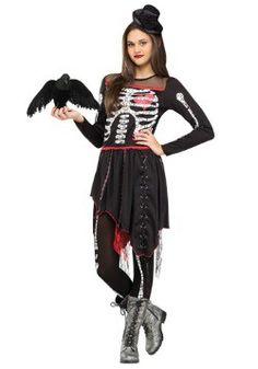 Teen Sassy Skelegirl Costume