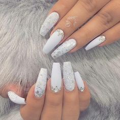 Nail art is a very popular trend these days and every woman you meet seems to have beautiful nails. It used to be that women would just go get a manicure or pedicure to get their nails trimmed and shaped with just a few coats of plain nail polish. Elegant Nail Art, Elegant Nail Designs, Nail Art Designs, Nails Design, Design Art, Design Ideas, White Nail Designs, Acrylic Nail Designs Coffin, Pedicure Nail Designs