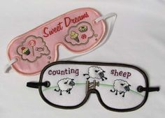 Sleep Mask machine embroidery project by Starbird Inc.