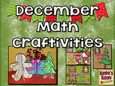 December Craftivities - Math-Themed Craftivities for December - Factor Trees, Word Problem Presents, and Gingerbread Ratios $