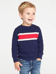Old Navy French-Rib Chest-Stripe Pullover for Toddler Boys N likes Boy Haircuts Short, Little Boy Hairstyles, Toddler Boy Haircuts, Toddler Boys, Kids Cuts, Peinados Pin Up, Toddler Boy Fashion, Kids Fashion, Cute Toddlers