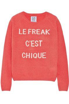 Zoe Karssen Le Freak C'est Chique wool and cashmere-blend sweater $255