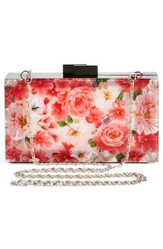 Crushing on this floral convertible clutch.