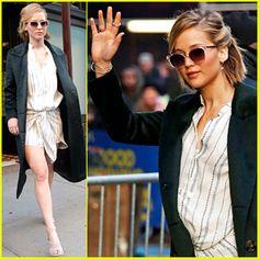 Jennifer Lawrence Gets Ready For Her 'GMA' Appearance | Jennifer ...