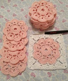 Transcendent Crochet a Solid Granny Square Ideas. Inconceivable Crochet a Solid Granny Square Ideas. Crochet Motifs, Crochet Blocks, Granny Square Crochet Pattern, Crochet Squares, Crochet Doilies, Crochet Flowers, Crochet Patterns, Granny Squares, Flower Granny Square
