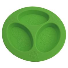 Silicone Divided Plate - Green