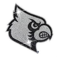 Louisville Cardinals Rhinestone Bling Auto Emblem