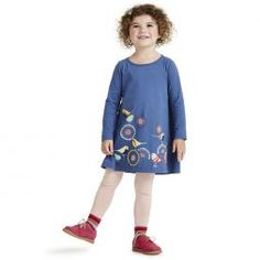 Little Girl Long Sleeved Graphic Dress | Tea Collection $35