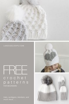A home for modern makers. Right + left hand patterns, video tutorials, beginner friendly easy designs, and loads of pictures. Find crochet and knittin. Modern Crochet Patterns, Crochet Patterns For Beginners, Knitting For Beginners, Baby Cardigan Knitting Pattern Free, Knitting Patterns Free, Knit Patterns, Crochet Vs Knit, Free Crochet, Crochet Hats