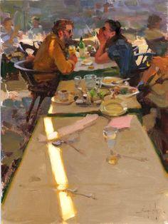 Kim English, Secrets, oil on canvas, 12 x 16 inches