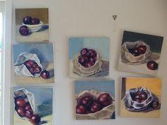 Still life work in progress by Owie Simpson