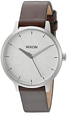 Nixon Women's 'Kensington' Quartz Stainless Steel and Leather Automatic Watch, Color:Brown (Model: A1081113-00) * Be sure to check out this awesome product.