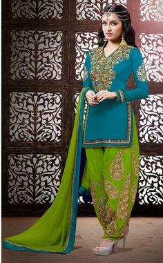 Online shopping punjabi salwar kameez & punjabi dresses for wedding & party.