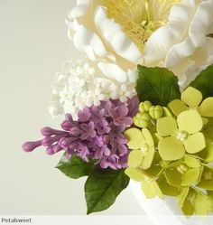 Lilacs with hydrangea and peonies