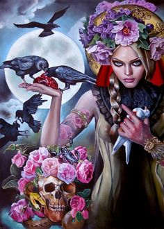 "Italia Ruotolo Art  ""Madonna of the Crows"""