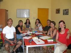 A spring class of two years ago. Italian language lesson in Federico II