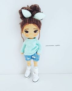 In this article we are waiting for you great amigurumi doll models. You can give yourself to these great amigurumi toys. Crochet Amigurumi Free Patterns, Crochet Doll Pattern, Romper Pattern, Cute Crochet, Crochet Hats, Doll Tutorial, Amigurumi Tutorial, New Dolls, Knitted Dolls