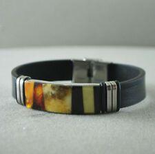 Baltic amber bracelet Men's elegant raw polished multicolor | eBay