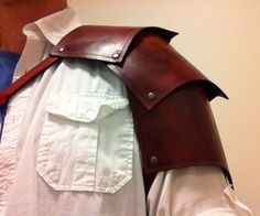 How to make a Leather Pauldron (or Spaulder)   Maybe Made of Wonder Flex?