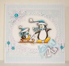 LOTV - Penguin Collection by Lorraine Bailey Christmas Cards 2018, Christmas Card Crafts, Christmas Bird, Christmas Animals, All Things Christmas, Christmas Ideas, Whimsy Stamps, Digi Stamps, Penguins And Polar Bears