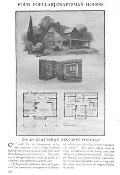 Craftsman Homes - Gustav Stickley