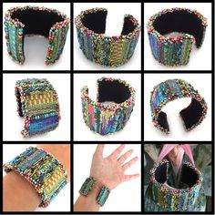 Mirrix Tapestry and Bead Looms Tapestry/Bead Cuff Bracelet www.mirrixlooms.com