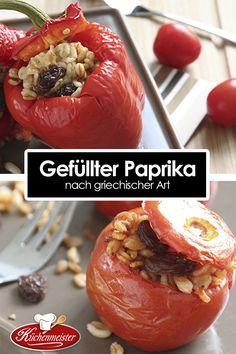 Gefüllte Paprika nach griechischer Art