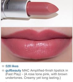 """MAC amplified finish lipstick in """"fast play"""""""