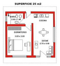 One room apartment plan Small Apartment Layout, One Room Apartment, Apartment Floor Plans, Apartment Design, Small House Floor Plans, Dream House Plans, The Plan, How To Plan, Mini Loft