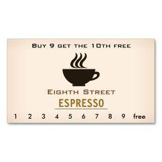 Espresso Coffee Loyalty Card Punchloyalty Cardsespresso
