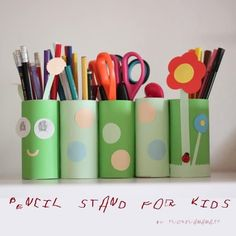 Pencil stand for kids - Tvořivá Mama Wooden Decor, Projects For Kids, Getting Organized, Pencil, Organization Ideas, Crafts, Hacks, Kids Service Projects, Manualidades