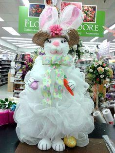 Deco Mesh Bunny designed by Raelene A.C. Moore Dover, DE.