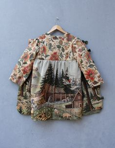 We have made this lovely coat with a vintage gobelin tapestry very finely woven with lots of details showing scenery of the Russian fairy tale Style Outfits, Kids Outfits, Little Girl Fashion, Kids Fashion, Kids Coats, Little Doll, Fashion Moda, Kid Styles, Kind Mode