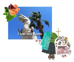 """""""depressed in paradise"""" by reslain ❤ liked on Polyvore featuring Topshop, Converse and Oliver Peoples"""